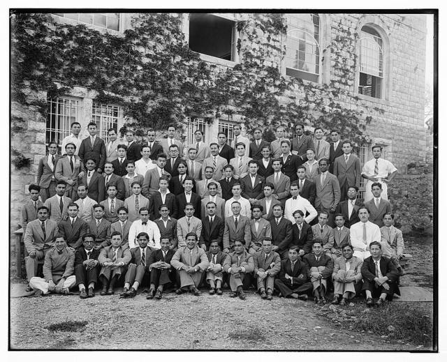 [Group portrait of students at the American University, Beirut]