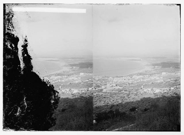 Haifa and bay, seen from Mt. Carmel