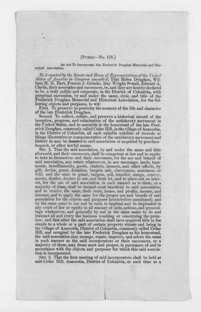 Incorporation Papers, 1898-1900
