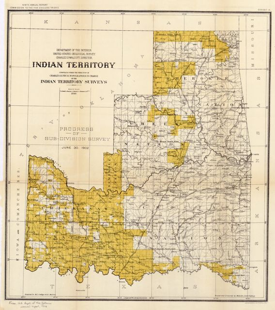 Indian Territory : compiled under the direction of Charles H. Fitch, topographer in charge of the Indian Territory surveys