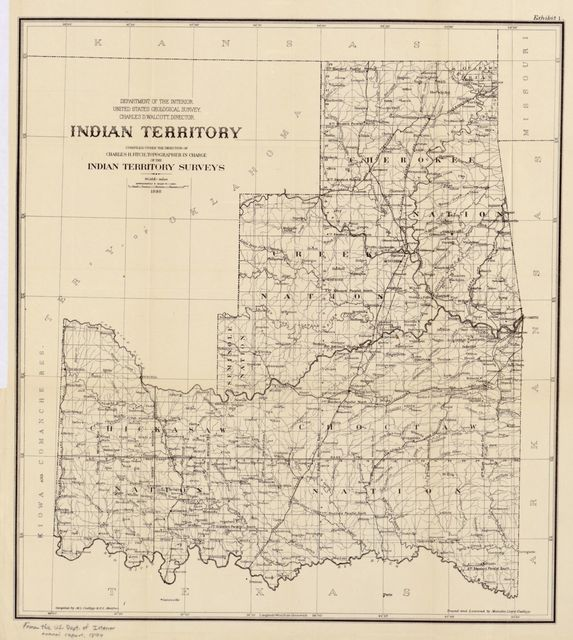 Indian Territory : compiled under the supervision of Charles H. Fitch, topographer in charge of the Indian Territory surveys