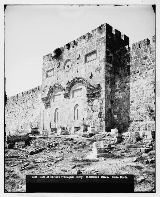 Jerusalem (El-Kouds). Golden Gate from the east