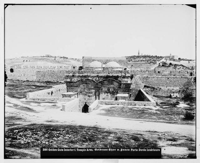 Jerusalem (El-Kouds). Golden Gate from the Temple area