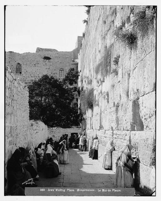 Jerusalem (El-Kouds). Jews' wailing place, upright / American Colony, Jerusalem.