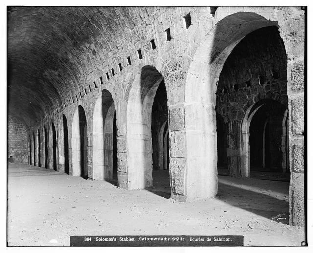 Jerusalem (El-Kouds). Solomon's Stables / American Colony, Jerusalem.