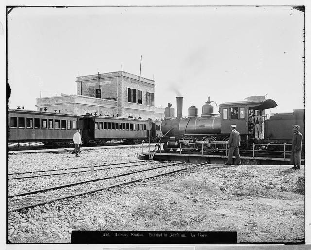 Jerusalem (El-Kouds). The railway station / American Colony, Jerusalem.
