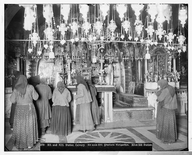 Jerusalem (El-Kouds). Twelfth and Thirteenth Stations (Calvary). / American Colony, Jerusalem.