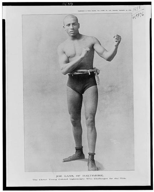 Joe Gans, of Baltimore, the clever young colored lightweight who challenges for the title