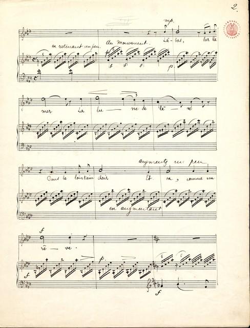 Lá-bas mélodie pour piano & chant : (mezzo ou soprano)