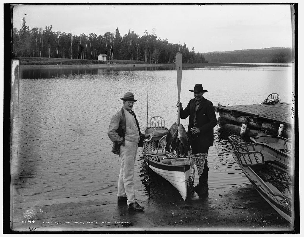 Lake Gogebic, Mich., black bass fishing - PICRYL Public Domain Search