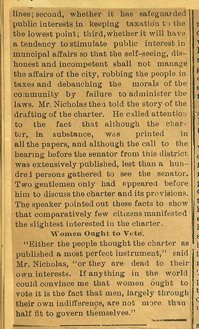 Lawyer Nicholas on Geneva Affairs