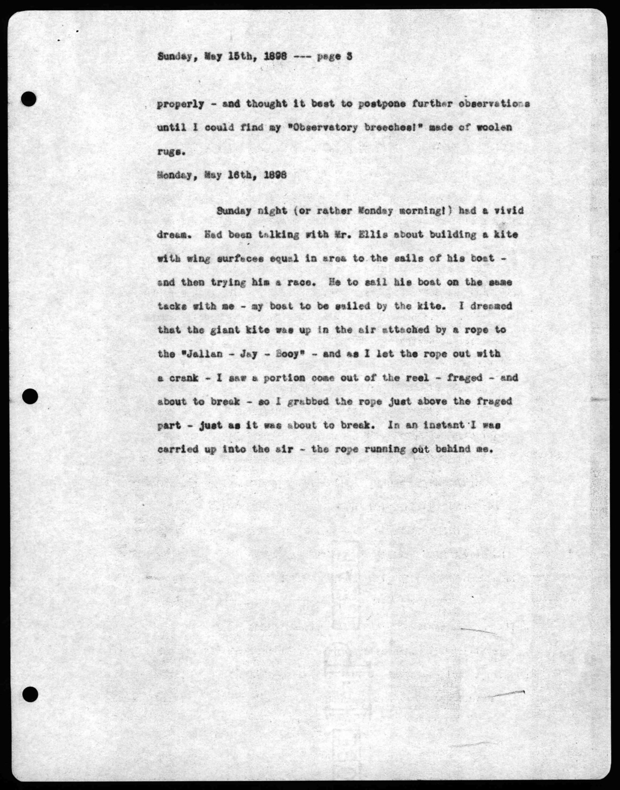 Letter from Alexander Graham Bell to Mabel Hubbard Bell, May 14