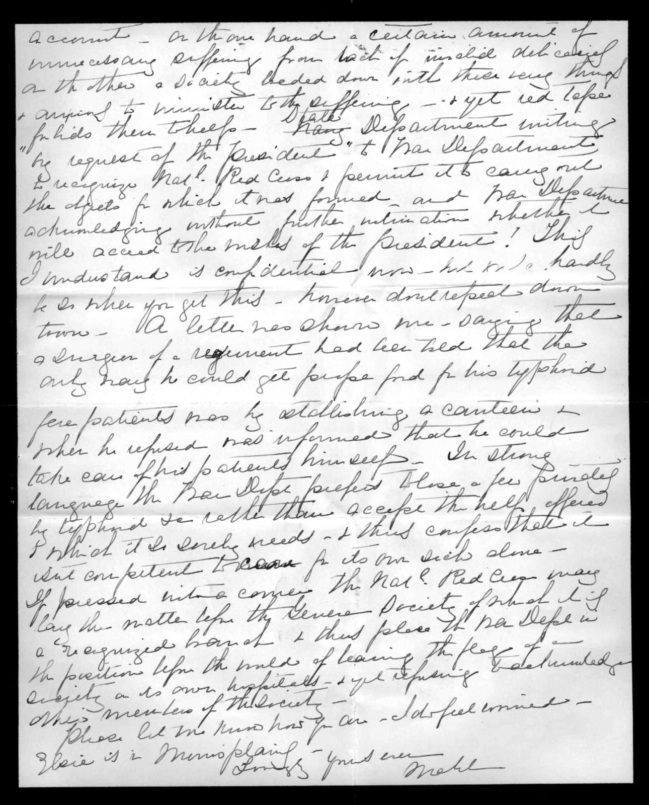 Letter from Mabel Hubbard Bell to Alexander Graham Bell, June 3, 1898