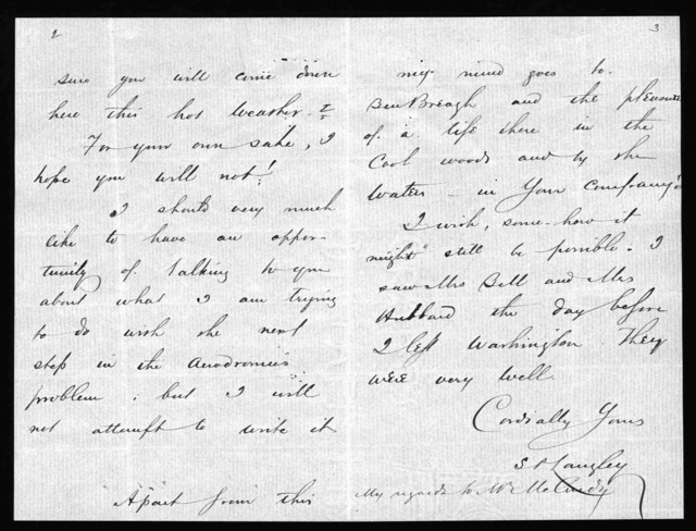 Letter from Samuel P. Langley to Alexander Graham Bell, June 18, 1898