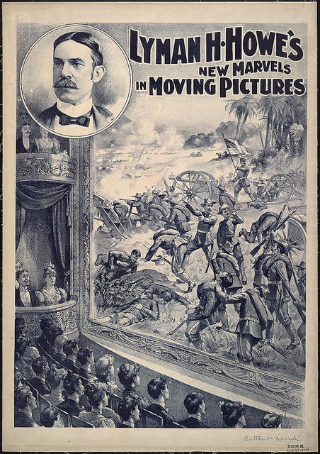 Lyman H. Howe's new marvels in moving pictures / Courier Litho. Co., Buffalo, N.Y.
