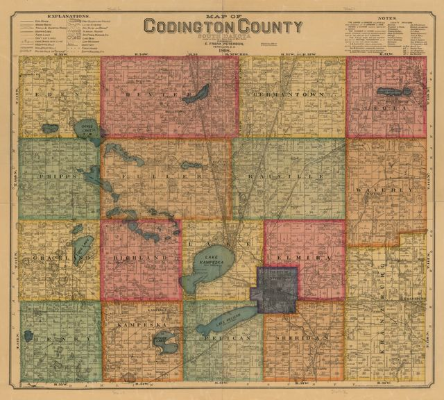 Map of Codington County, South Dakota : compiled and drawn from a special survey and official records.