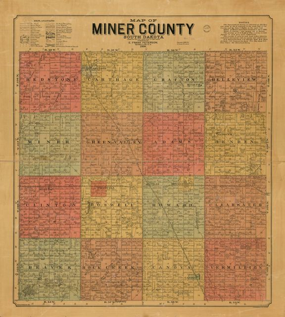 Map of Miner County, South Dakota : compiled and drawn from a special survey and official records.