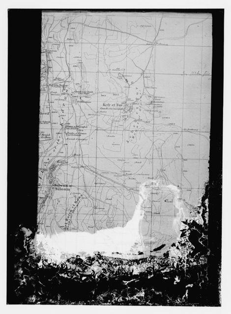 [Map showing parts of East Jerusalem and environs, based on the Ordnance Survey of Jerusalem]