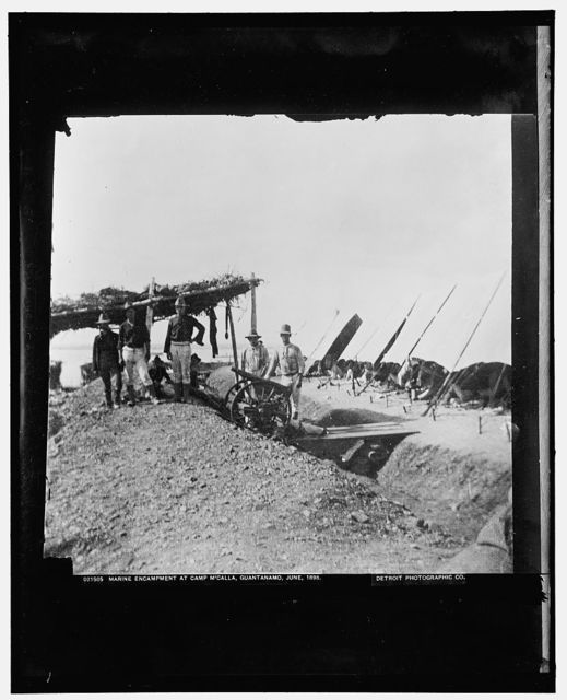 Marine encampment at Camp M'Calla [i.e. McCalla], Guantanamo, June 1898