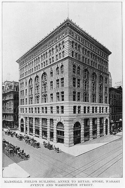 Marshall Field's Building, annex to retail store, Wabash Avenue and Washington Street, Chicago, Ill.