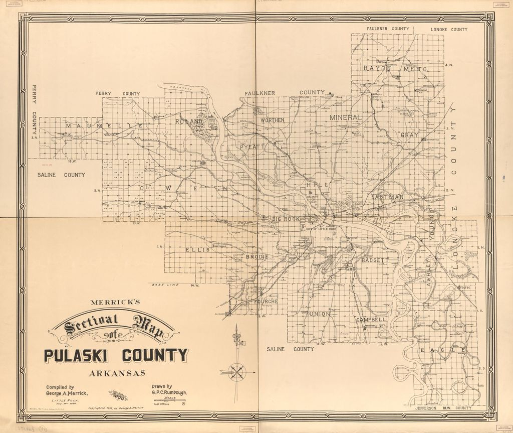Merrick's sectional map of Pulaski County, Arkansas /