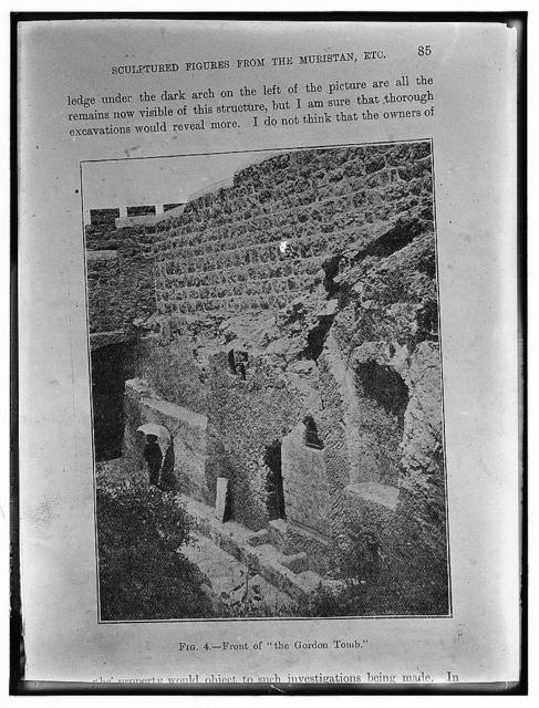 Newer Jerusalem. Page 85 from a book. Sculptural figures from the Muristan, etc.