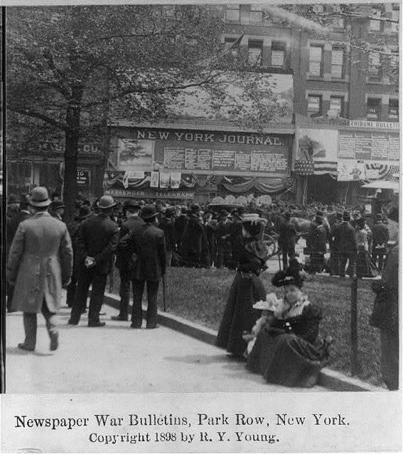Newspaper War Bulletins, Park Row, N.Y.C.