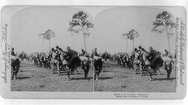 Ninth U.S. Cavalry: Dismount!