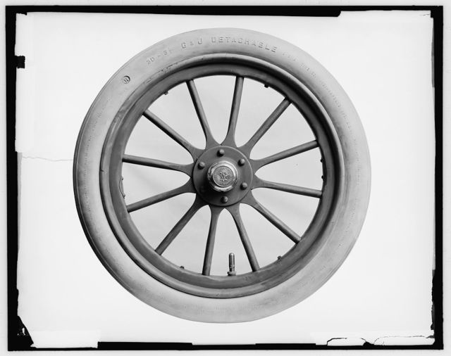 [No[r]thern Mfg. Co., detail of an automobile wheel]