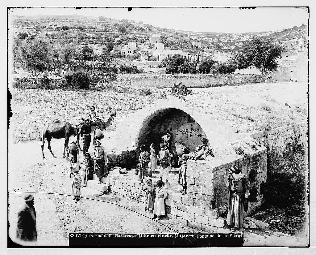 Northern views. Virgin's Fountain, Nazareth / American Colony, Jerusalem.
