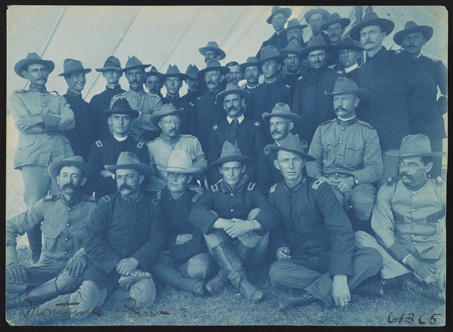 [Officers of the Rough Riders at military camp, Montauk Point, New York]