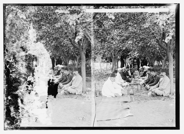Officials of Tiberias picnicing at Gamala