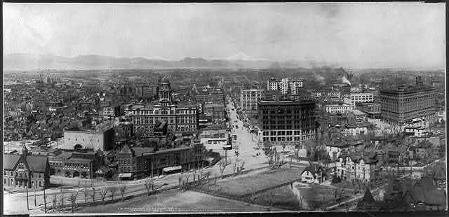 Panorama of Denver Colo.: center section