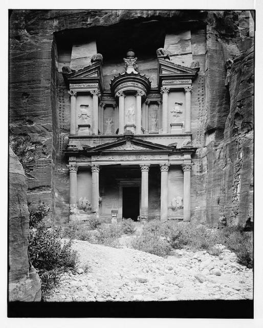Petra. Front view of Temple of el-Khazneh