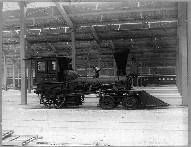 Pioneer locomotive C. & N.W. R.R. First locomotive to run out of Chicago, built ca. 1862