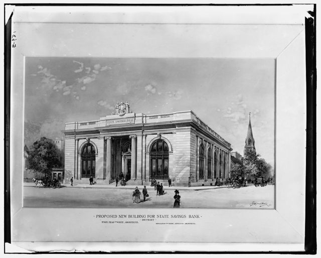 Proposed new building for State Savings Bank, Detroit