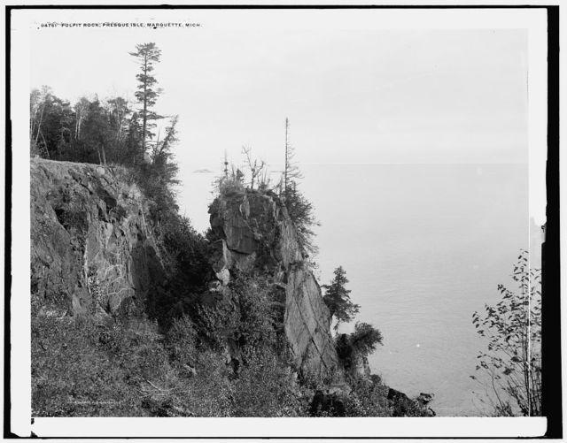 Pulpit Rock, Presque Isle, Marquette, Mich.