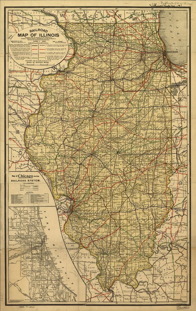 Railroad map of Illinois prepared under the direction of and