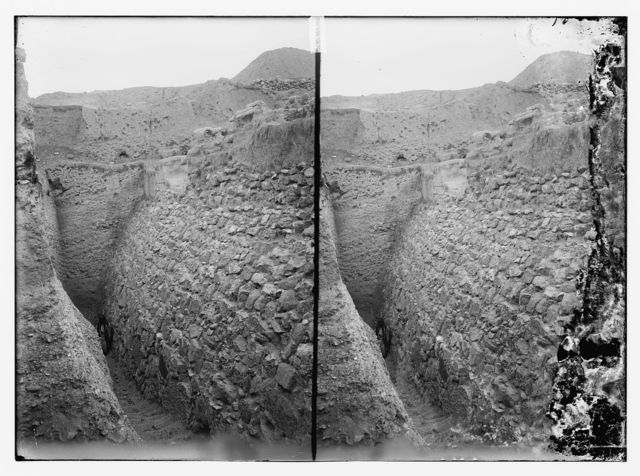 [Road to Jericho (Er-Riha), etc. Remains of city wall of ancientJericho]