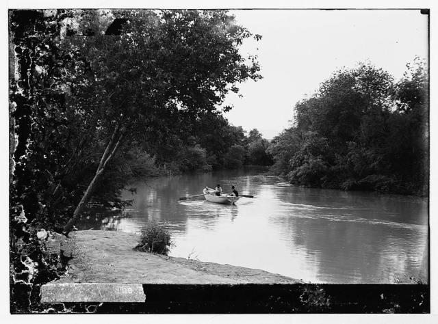 Road to Jericho (Er-Riha), etc. River Jordan showing eastern bank.