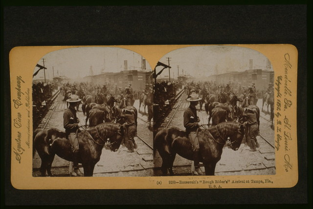 "Roosevelt's ""Rough Rider's"" [sic] arrival at Tampa, Fla., U.S.A."