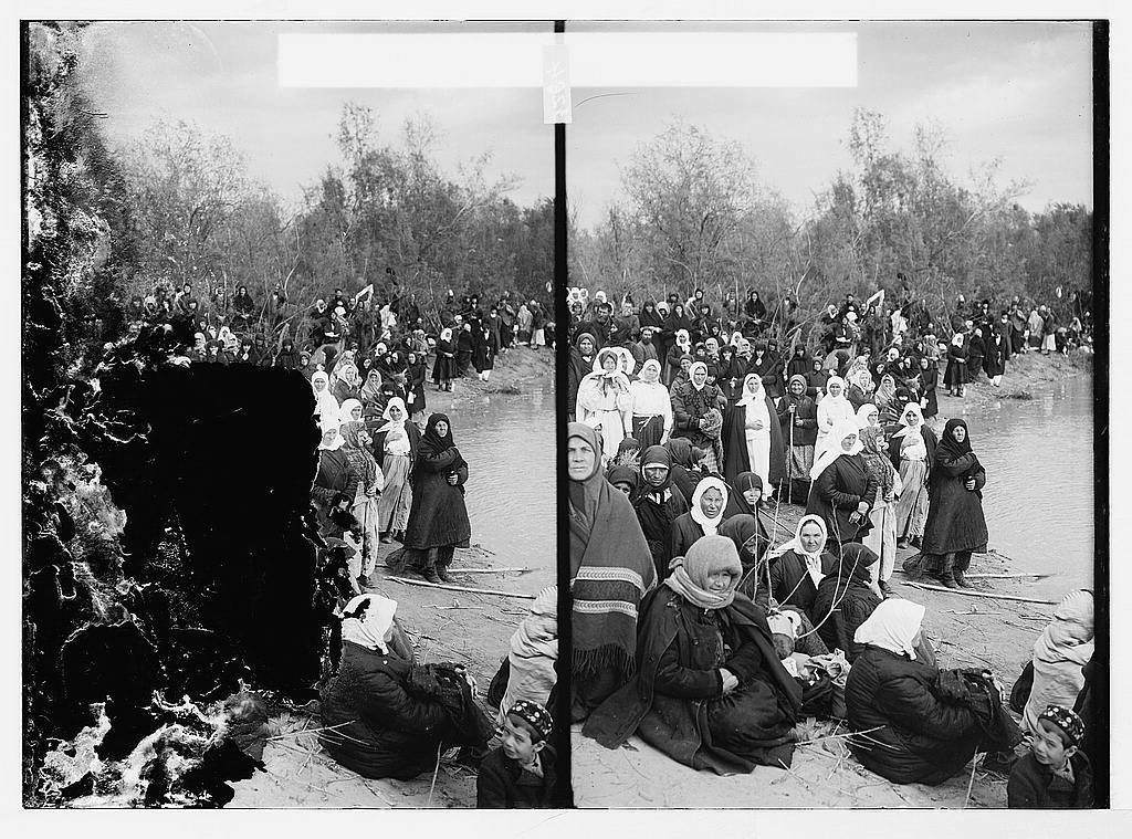 Russian pilgrims awaiting Epiphany