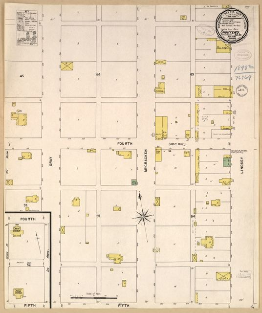 Sanborn Fire Insurance Map from Choteau, Mayes County, Oklahoma.