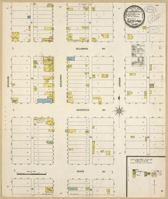Sanborn Fire Insurance Map from Cleveland, Pawnee County, Oklahoma.