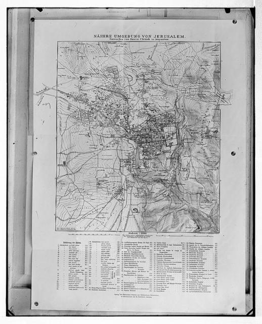 Schick map, 1894-5.