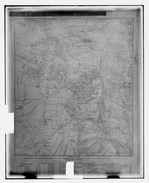 Schick map of Jerus. [i.e., Jerusalem]
