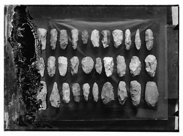 Series of prehistoric flints
