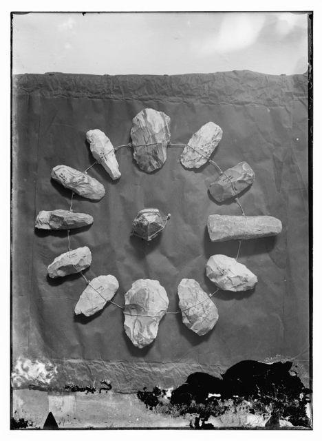 Series of prehistoric flints