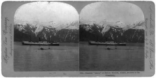 Steamer QUEEN at Haines Mission, Alaska, enroute to the Klondyke