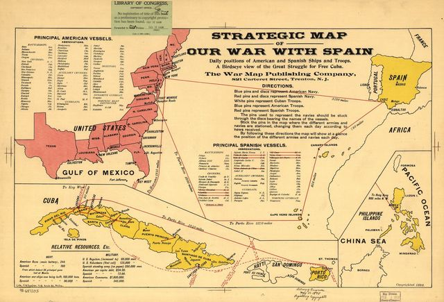Strategic map of our war with Spain.